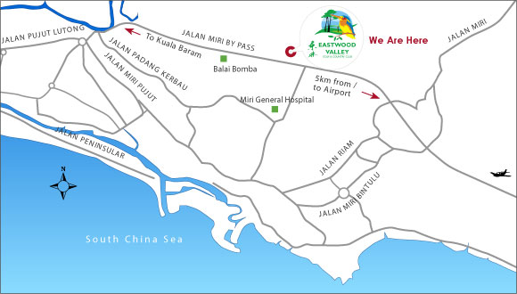 Eastwood Valley Golf & Country Club - Location Map on
